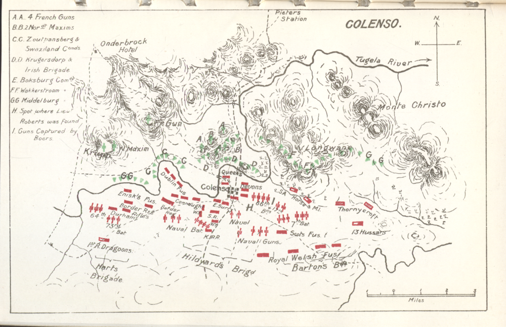 General Viljoen's map of Colenso
