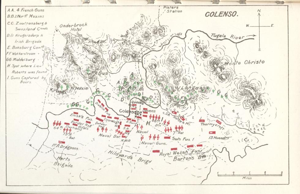 General Viljoen's map of Colenso