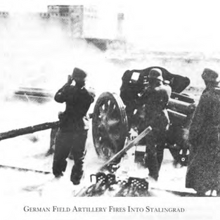 German artillery pounding Stalingrad