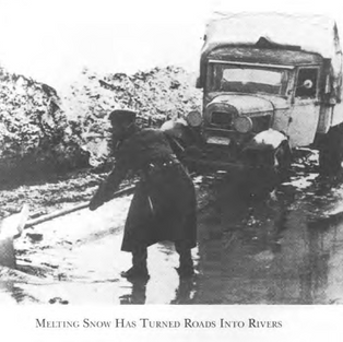 Rain turns roads to sludge across the steppe