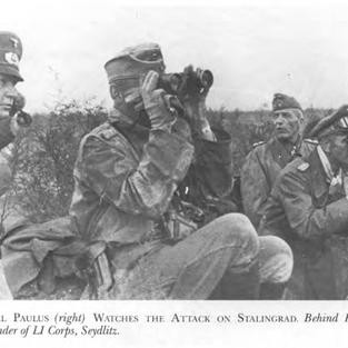 General Paulus peering through a periscope as his men assault Stalingrad