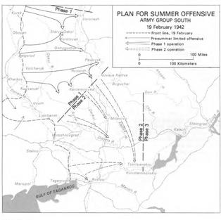 Operation Blau initial plan Feb 1942