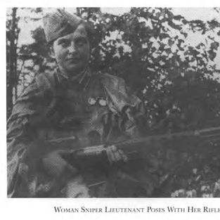 Unnamed women sniper with medals