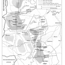 A map of partisan action across the Russian front