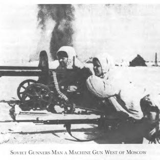 Russian machine gun crew outside Moscow