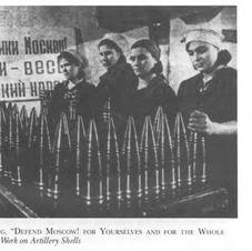 Women in a Russian armaments factory