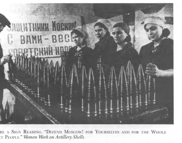 Women in a Russian armaments factory