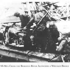 An SS unit crossing the Bussina River