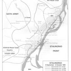 Stalingrad as it lay along the Volga