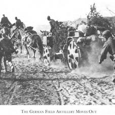 German Field Artillery on the dusty heat of the Steppe