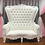 Thumbnail: Double Seater White Throne Chair - In House Rental