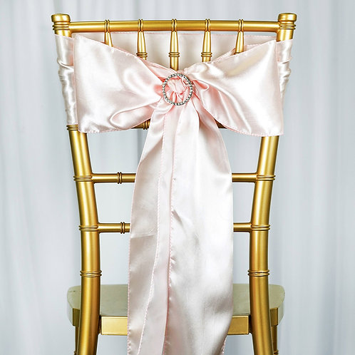 "(5) 6""x106"" Blush Chair Sash- In House Rental"