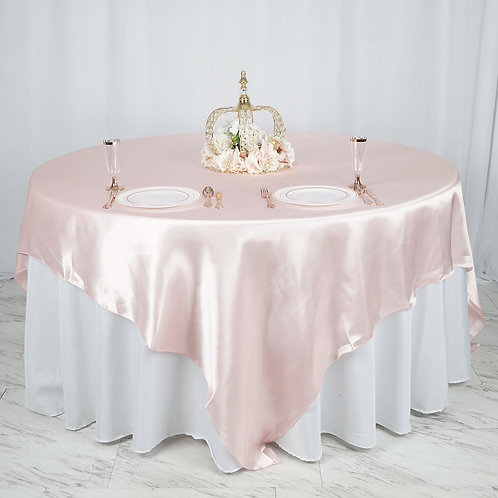 "90"" Blush Satin Overlay  - In House Rental"