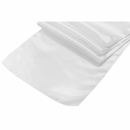 Satin Table Runner - White - In House Rental