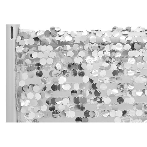 Large Payette Sequin 10ft Drape/Backdrop panel - Silver - In House Ren