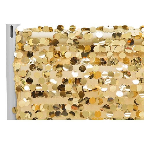 Large Payette Sequin 10ft Drape/Backdrop panel - Gold- In House Rental