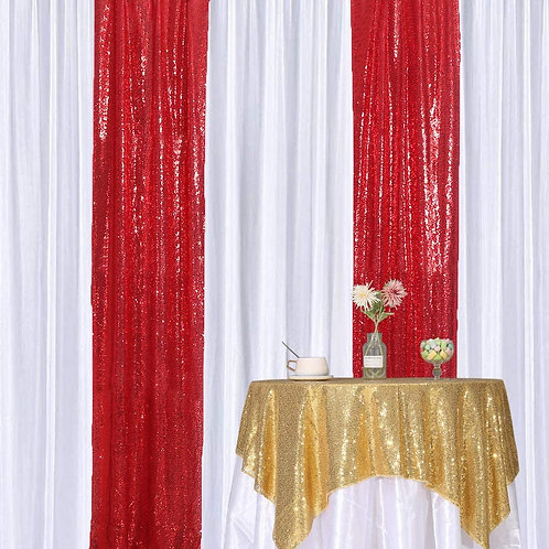 equin Backdrop 2FT x 8FT 2pcs Red- In House Ren