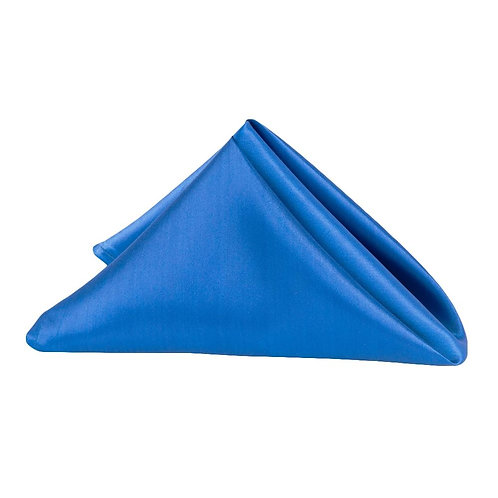 "(5) 20""x 20"" Satin Napkin Royal Blue - In House Renta"