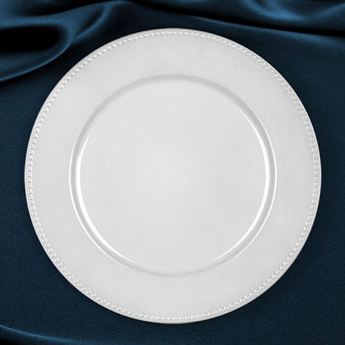 "13"" White Charger Plates - In House Rental"