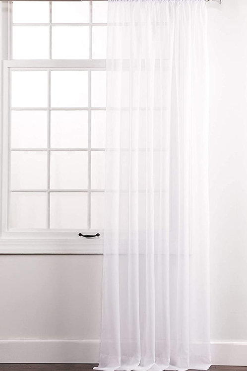 "White Elegance Sheer Voile Backdrop, 60"" X 120"" 