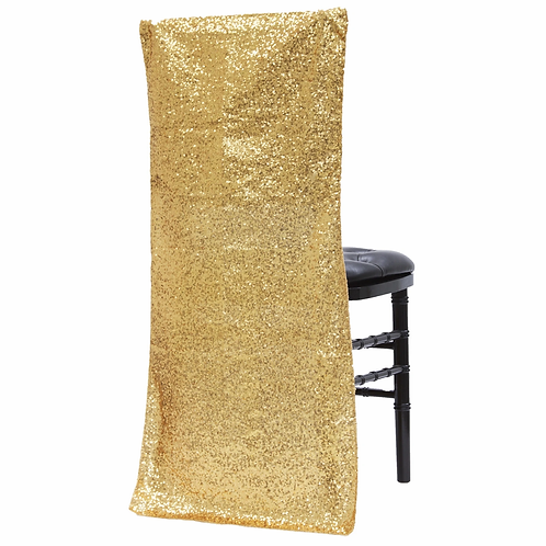 Glitz Sequin Chiavari Full Chair Back Cover - Gold- In House Rental