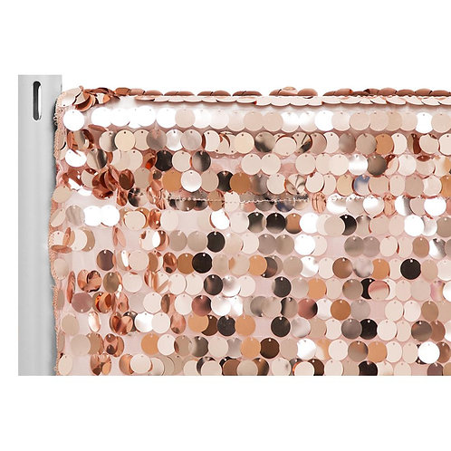 Large Payette Sequin 10ft Drape/Backdrop panel - Rose Gold- In House Rental