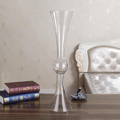 "24"" Reversible Ball Glass Trumpet Vase- In House Rental"