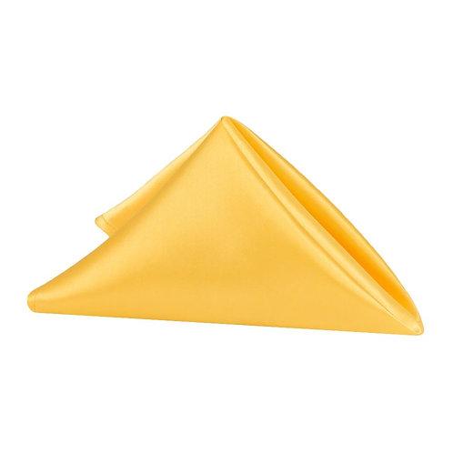 "(5) 20""x 20"" Satin Napkin Canary Yellow (Bright Yellow) - In House Rental"
