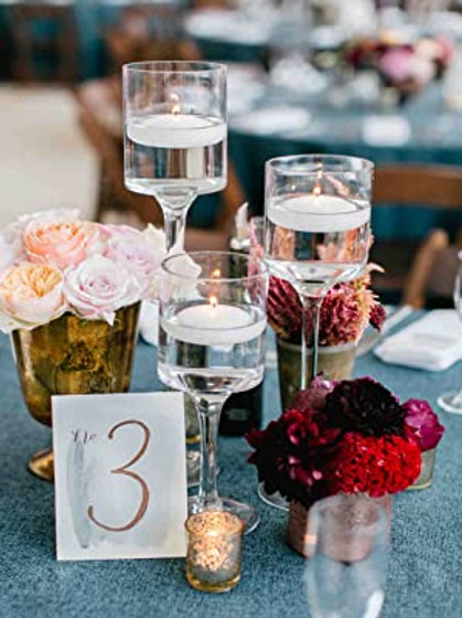 Set of 3 Glass Centerpiece  - In House Rental