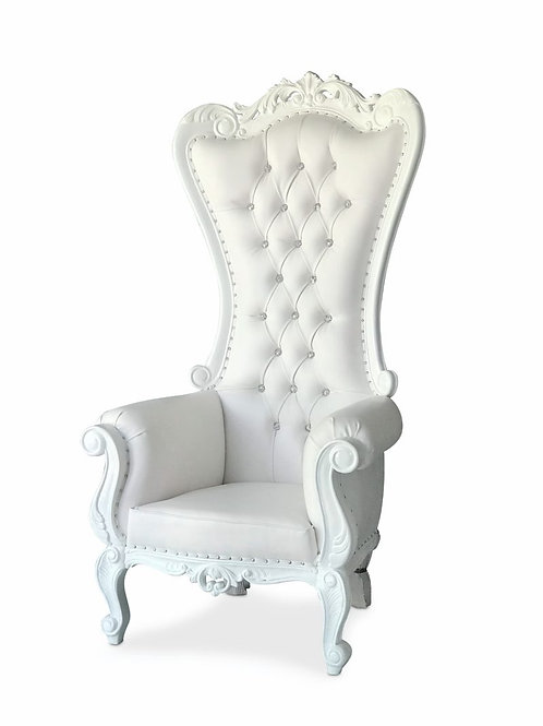 White Throne Chair - In House Rental