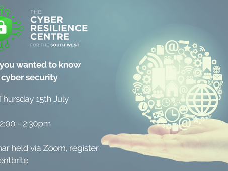 Webinar: Everything you want to know about cyber security but were afraid to ask
