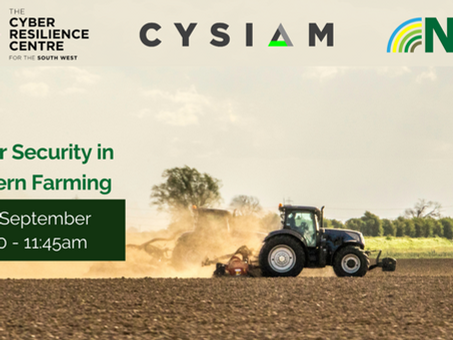 The SWCRC to host farming cyber security talk with NFU and CYSIAM