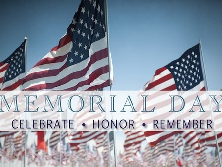 Memorial Day Schedule (UPDATED!!!)