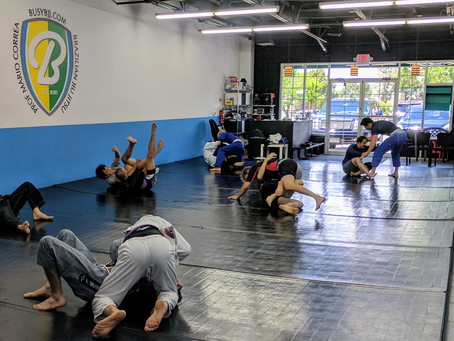 Packed Open Mat at Busy BJJ