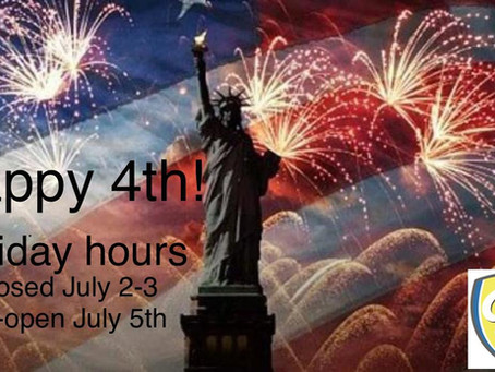 4th of July Schedule