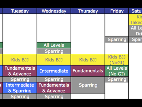 New Schedule Starting this Monday!