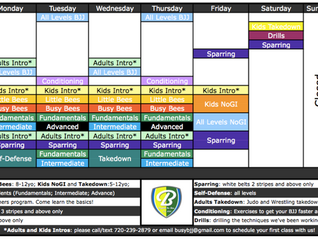 New Schedule Starting Feb 29th!!!