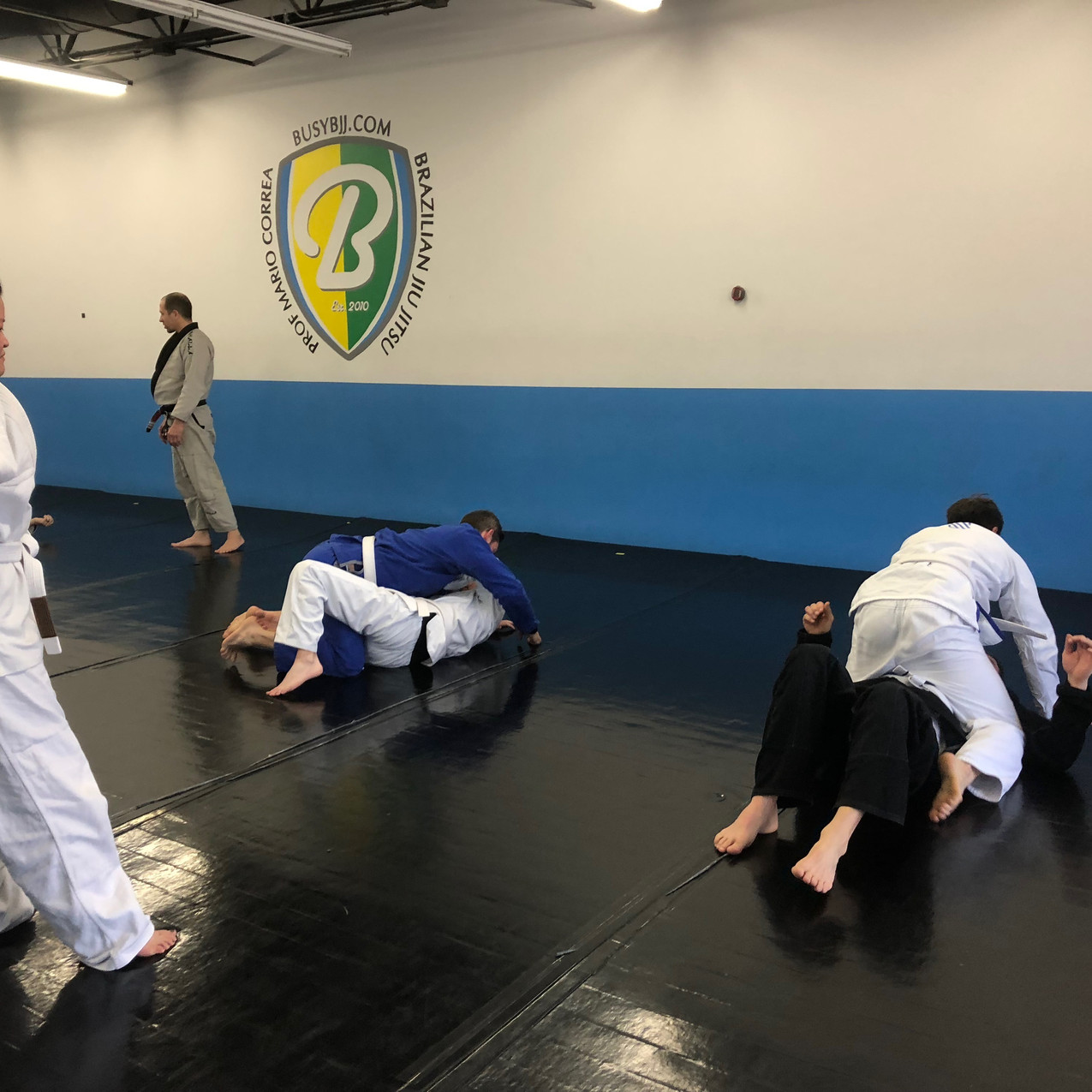 Half guard to mount
