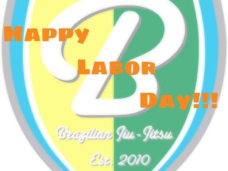 Labor Day Weekend Schedule
