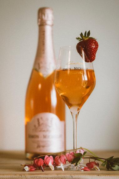 Champagne rosé Simon-Michelot