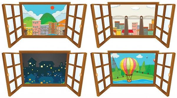 quatro-cenas-da-ilustracao-da-janela_130