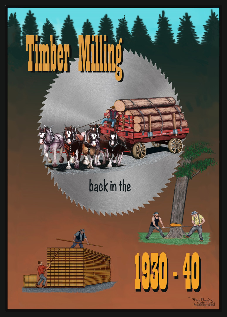 Series: Timber Milling back in the 1930 - 40