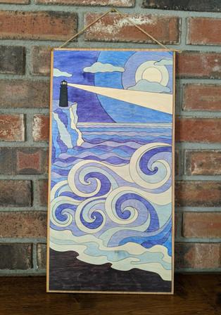 Ocean View (wooden wall art)