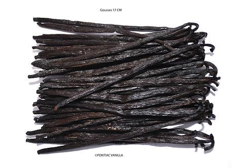 2 gousses Vanille Bourbon noire gourmet de Madagascar 16 à 17cm