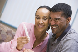 Couple with positive home pregnancy test