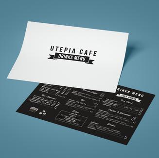 Utepia Cafe Menu