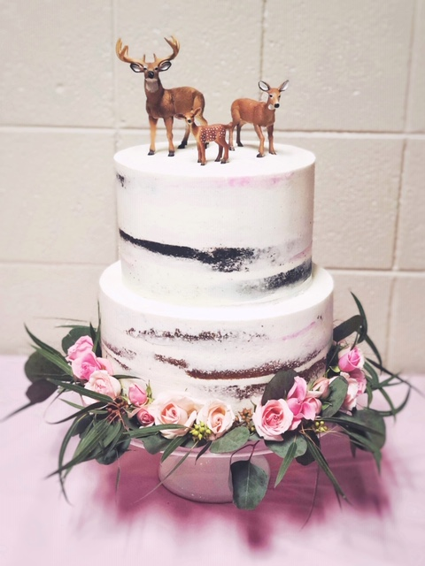 Semi naked baby shower cake