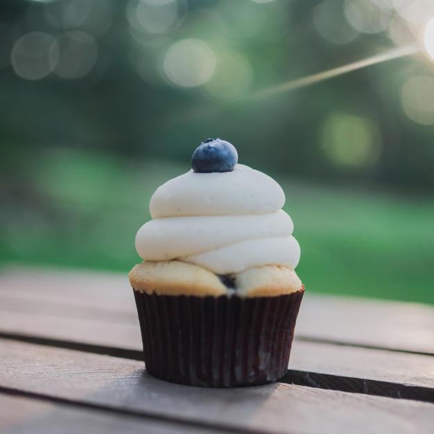 Blueberry Maple Cupcake