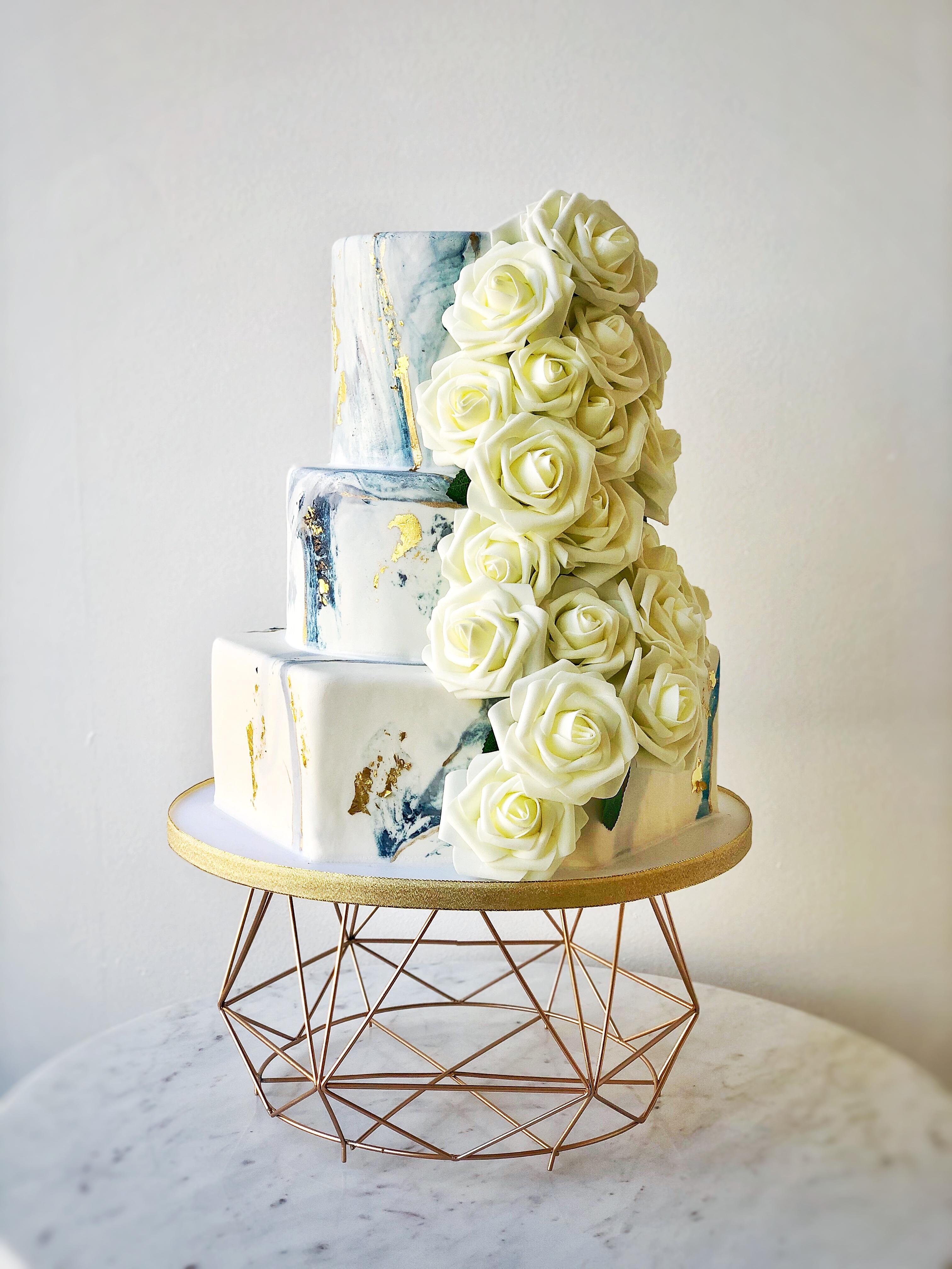 Marble Wedding Cake