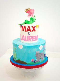 Twin birthday cake